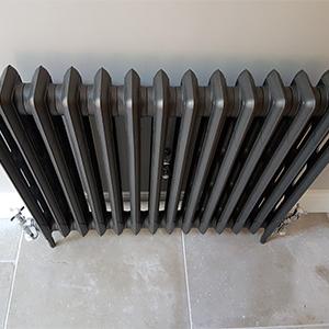 Old fashioned radiator - warm bathroom